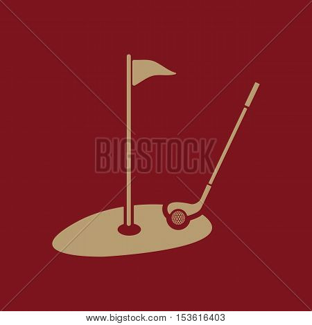 The golf icon. Sport symbol. Flat Vector illustration