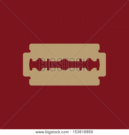 The blade razor icon. Shaver symbol. Flat Vector illustration