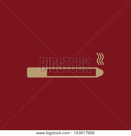 The smoking icon. Cigarette symbol. Flat Vector illustration