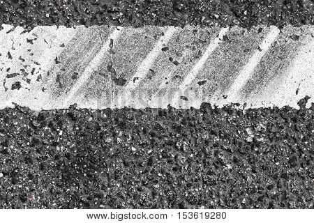 White Dividung Line Fragment, Tire Tracks