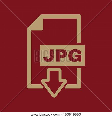 The JPG icon. File format symbol. Flat Vector illustration