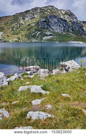 Panorama of The Trefoil lake, Rila Mountain, The Seven Rila Lakes, Bulgaria