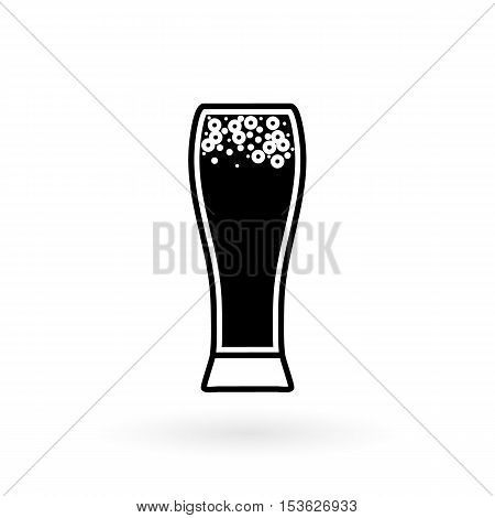 vector icon of glasses for beer flat style