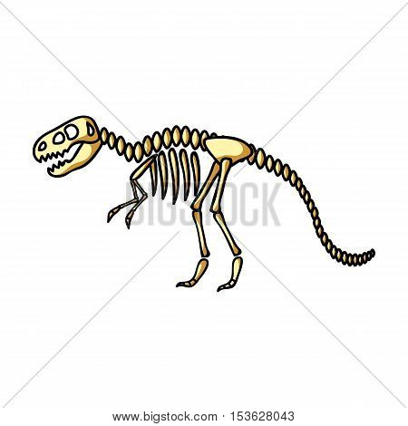 Tyrannosaurus rex icon in cartoon style isolated on white background. Museum symbol vector illustration.