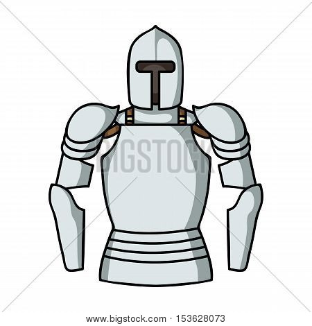 Plate armor icon in cartoon style isolated on white background. Museum symbol vector illustration.