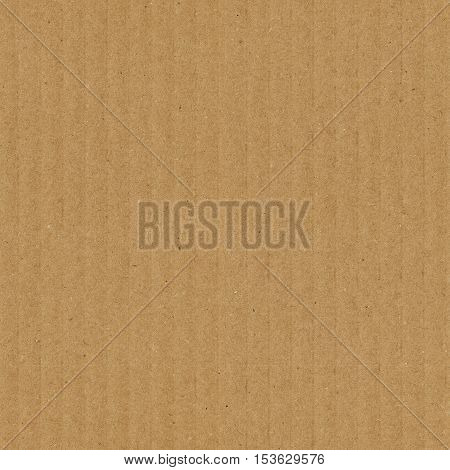 Cardboard texture seamless pattern. Brown corrugated card with vertical strips