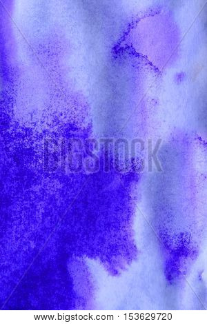 abstract purple ink stains with streaks on white wet paper