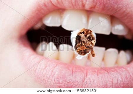 Cigarette In The Mouth