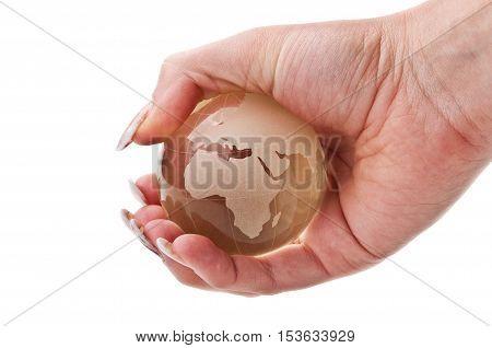 Woman Holding A Globe