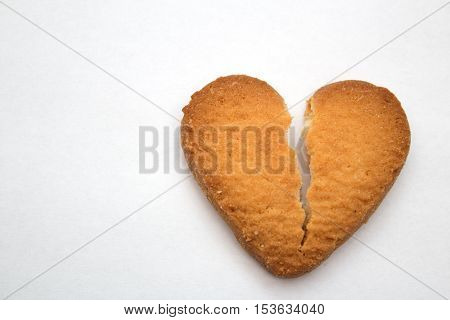 Cookie In The Form Of Broken Hearts - Symbol Of Love