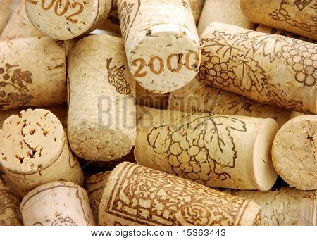Heap of wine corks