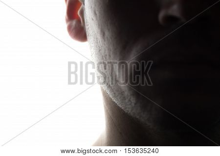 Portrait Of A Young Man In Front View, Half View