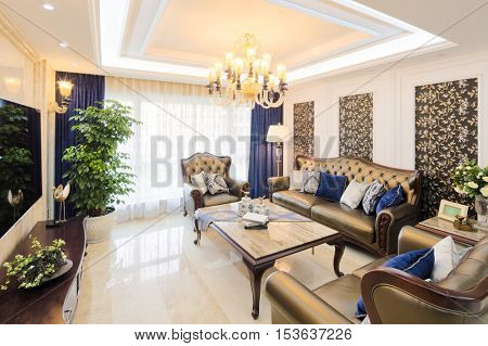 decoration and design of modern living room