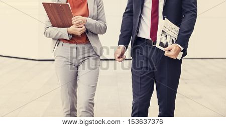 Business People Commuter Walking City Life Concept