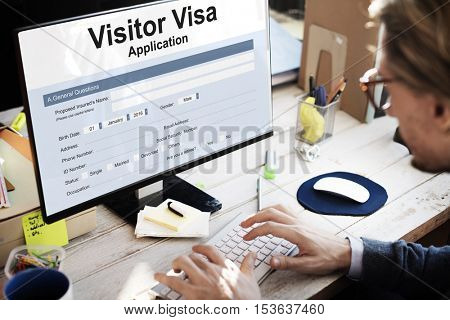 Visitor Visa Application Form Concept