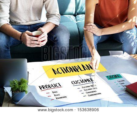 Action Plan Strategy List Process Concept