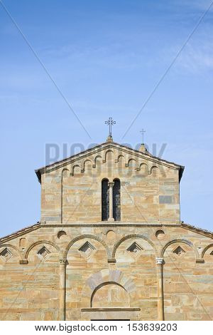Italy - Tuscany - Medieval church of Vicopisano (Pisa) called