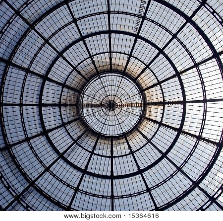 Very big shop in milan. cupola.