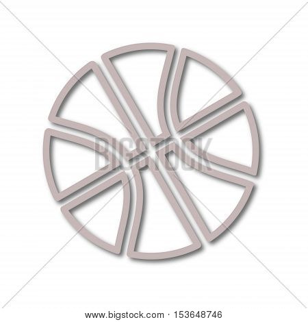 Simple line Basketball icon on white background