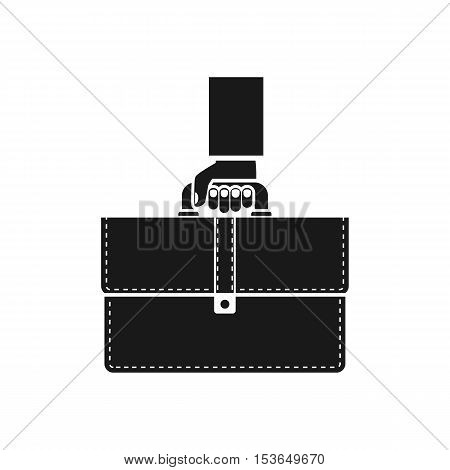Holding A Briefcase In Hand Icon