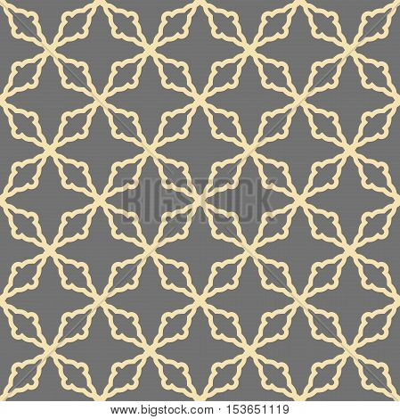 Seamless vector golden ornament in arabian style. Pattern for wallpapers and backgrounds