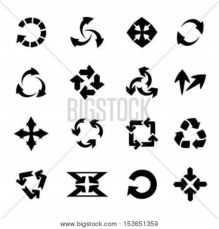 Vector arrows on white background - illustration
