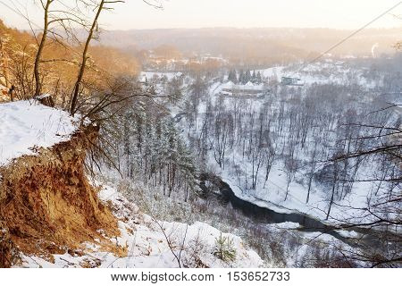 View Of Vilnia River From Geological Puckoriai Exposure, Vilnius