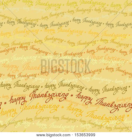 Happy Thanksgiving day horizontal seamless pattern with happy thanksgiving text lines. Good wishes for grateful cards. Vector illustration stock vector.