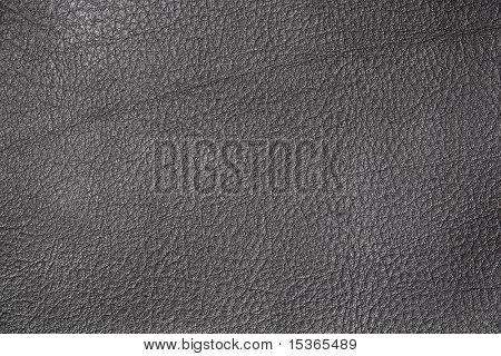 Black leather texture. Close view.