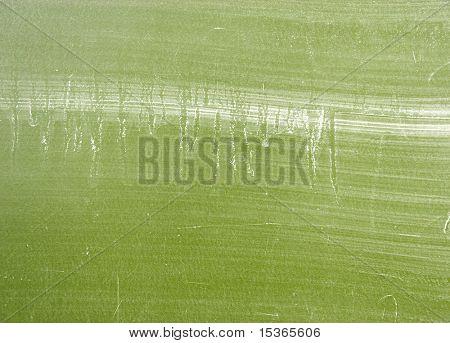 Dirty school blackboard. Green color.