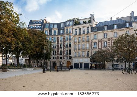 Street in the historical centre of Paris the capital and most visited city of France