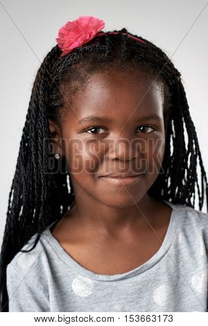 Young black african girl portrait collection