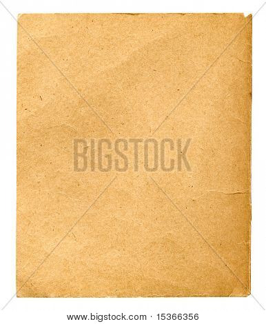 Rough paper. Isolated in white.