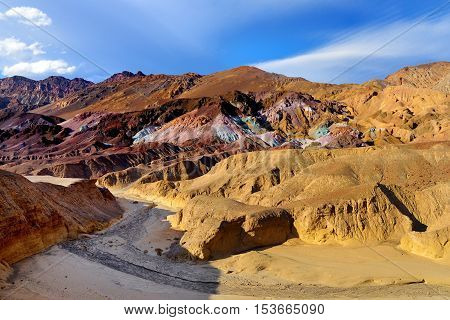 Stunning View Of Famous Artist's Palette In Death Valley National Park