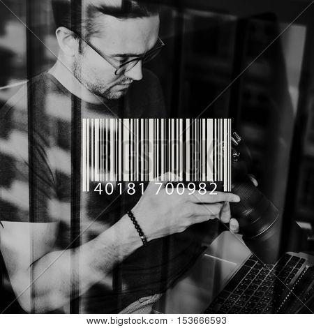 Bar Code Encoding Decode Shopping Coding Concept