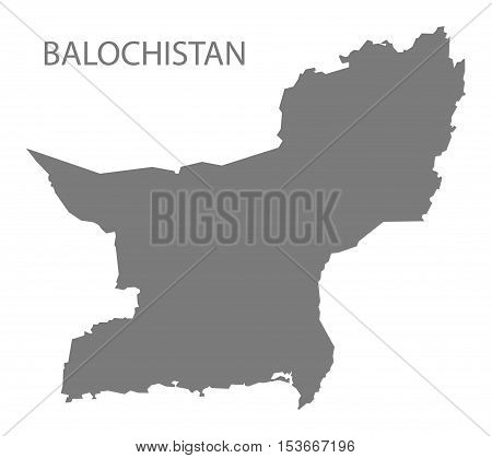 Balochistan Pakistan Map grey vector high res