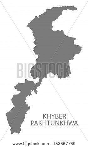 Khyber Pakhtunkhwa Pakistan Map grey vector high res