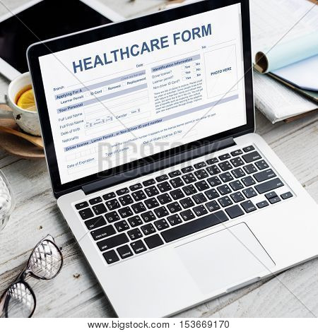 Healthcare Form Medical Application Concept