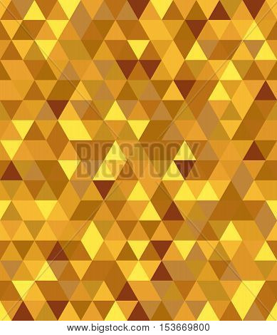 Gold seamless pattern, Geometrical background with triangles