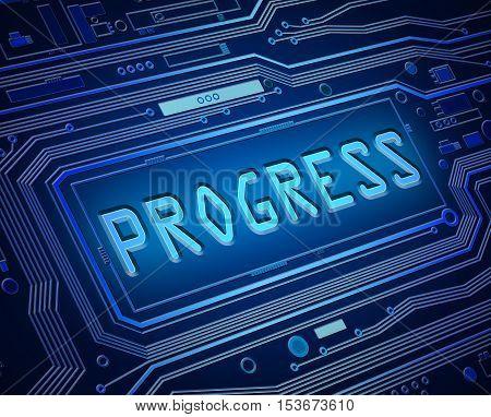 Technology Progress Concept.
