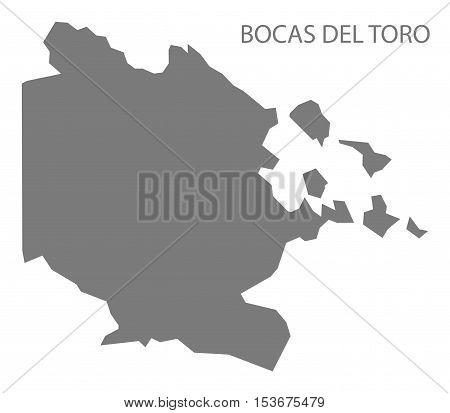 Bocas del toro Panama Map grey vector high res