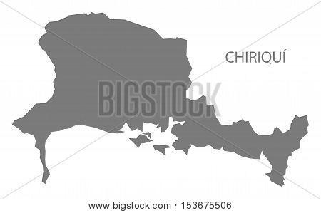 Chiriqui Panama Map grey vector high res