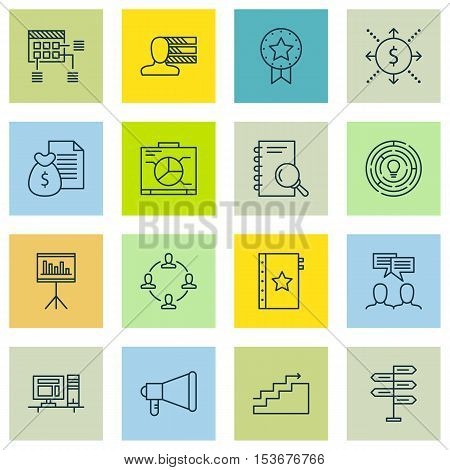 Set Of Project Management Icons On Schedule, Warranty And Computer Topics. Editable Vector Illustrat