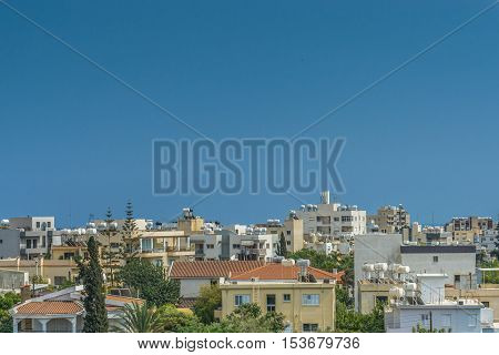 Detail of the city of Limassol, Cyprus.
