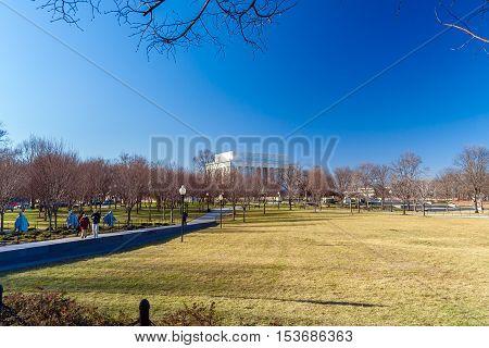 Washington Dc, Usa - January 27, 2006: Korean War Veterans Memorial In West Potomac Park