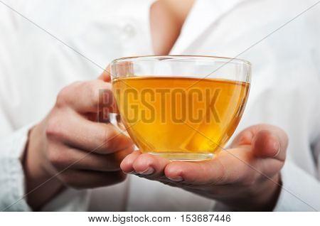 Nurse Holding A Cup Of Tea