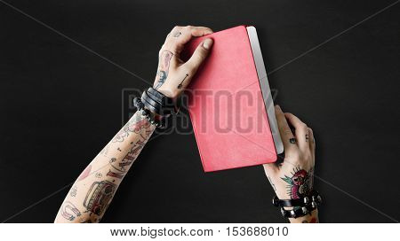 Tattoo Notebook Document Idea Write Organizer Concept