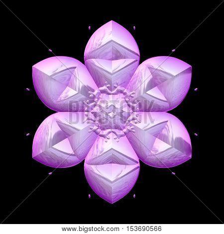 Soft pink flower bloom 3d render image