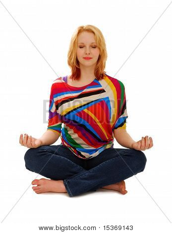 Woman In Peaceful Meditation