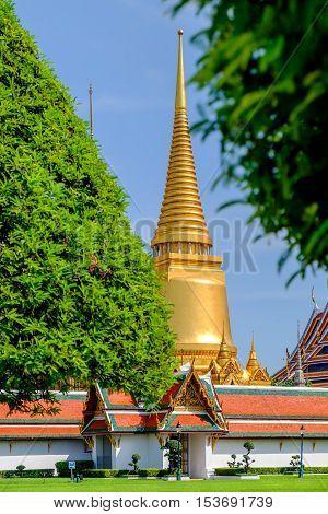 Wat Phra Kaew - Temple of the Emerald Buddha Bangkok Thailand.